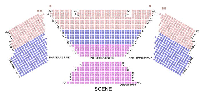 Plan théâtre du Léman